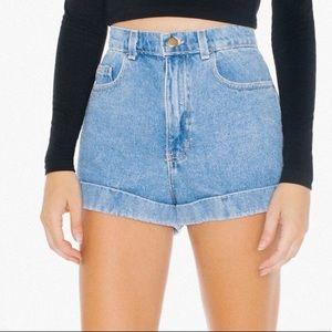 American apparel 26 high rise mom shorts 0703
